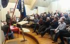 Vse prisotne na občnem zboru Mengeške godbe je nagovoril župan Franc Jerič