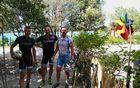 Kolesarska ekipa na cilju v Balah. Kapelnik Dimitrij je v odlični kondiciji. :-) Ftot: D. L.