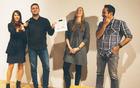 Za naziv Ypsilonovec leta 2016 so se potegovali članica Tanja Golčman ter člana Jernej Pišljar in Gašper Kos. Občinstvo je najbolj prepričal Gašper Kos, ki mu je Ypsilonovka leta 2015, Lenka Gložančev ponosno predala naziv (foto: Siniša Kanižaj).