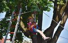 Pgd Loka je z vrvno tehniko otroke popeljala v višave.