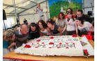 Takole so upihnili svečke na torti ob 60-letnici Radia Celje.