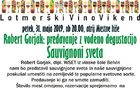 Lotmerški VINO VIKEND - Predavanje in degustacija