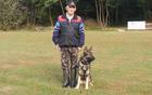 Silvo Lovrenčič in pes Abas