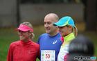 Teja Kralj, Franc Jerič, Renata Kosec pred startom 3. teka Občine Mengeš