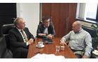 Aleš Hojs, direktor področja cest in razvojnih projektov DRI, Bojan Cerkovnik, vodja projekta gradnje obvoznice v Občini Mengeš, Franc Jerič, župan Občine Mengeš