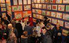 """Ogled razstavljenih del natečaja Gasilske zveze Mengeš """"Ko se nesreča zgodi, naj bodo proste poti"""" je v avli Kulturnega doma Mengeš na voljo do srede, 6. decembra 2017."""