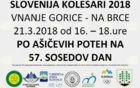 SLO kolesari po varnih poteh 2018.