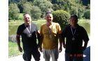 Nosilci medalj sektorja A: Borut Eltrin, Drago Vozelj in Boštjan Zupanc