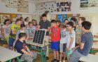 Jan Urbanc iz Gorenjskih elektrarn med sedmošolci