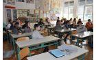 Preddvorski osnovnošolci so z zanimanjem poslušali predavanja strokovnjakov Gorenjskih elektrarn – Foto: dr. Drago Papler