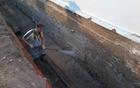 Temeljita priprava stene za hidrosanacijo.