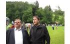 Tekmo sta budno spremljala predsednik SD Vizore in predsednik KS Nova Cerkev