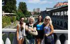 Marija s hčerko in vnukinjama v Ljubljani
