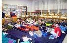 Učenci Druge OŠ SG se pripravljajo na spanje. (arhiv Druge OŠ SG)
