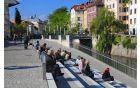 Projekt preureditve nabrežij in mostov na Ljubljanici je bil nagrajen. (foto: Dunja Wedam, Turizem Ljubljana)