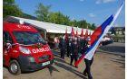 Gasilske parade sta se udeležili kar dve gasilski zvezi.
