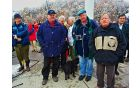 Gost letošnjega popotovanja je bil dramatik Tone Partljič, ob njem je Stane Škrabar, eden izmed tistih, ki so zraven že od vsega začetka in župan Mirko Kaplja (od desne proti levi)