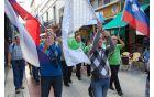 Ob slovenski je vihrala tudi zastava ajdovske občine