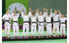 Veselje slovenskih judoistk ob novem uspehu  (foto : Slovenia Olimpic team)