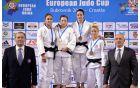 Najboljše tekmovalke na članskem evropskem pokalu Dubrovnik 2015 v kategoriji do 57 kg (Foto : galerija EJU)