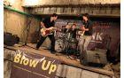 Prvi koncert letošnjega Festivala Kanal je odigrala tričlanska zasedba Blow Up. Foto: Mitja Sodja
