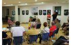 Obiskovalce razstave sta pozdravila tudi organizatorja festivala, županja Občine Kobarid in predsednik Ribiške družine Tolmin. Foto: Nataša Hvala Ivančič