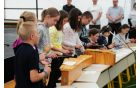 Učenci Osnovne šole Veržej so poskrbeli za bogat kulturni program (Foto: S. Veberič)