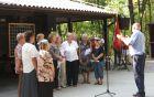 Zamejski pevski zbor med nastopom.  Foto: Danila Schilling