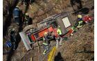 Reševanje voznika traktorja.