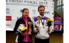 Nika Jančič in Miha Povšič - absolutna zmagovalca teka na Blanci
