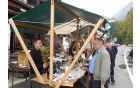 Jestival okusov in umetnosti je obiskal tudi kobariški župan. Foto: Nataša Hvala Ivančič