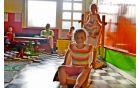 Otroci so v igralnici kavarne lahko spremljali maraton animiranih filmov.