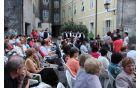 Nastopil je tudi pevski zbor »Šentanelski pavri«, ki ga je ustanovil muzikolog Luka Kramolc. Foto: Toni Dugorepec