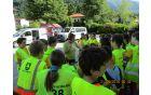 Na zaključnem kolesarskem dogodku je sodeloval tudi Rdeči križ Slovenije – Območno združenje Tolmin, ki je osnovnošolcem prikazal nekaj osnovnih načinov previjanja in ovijanja ran.