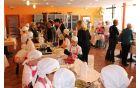 Vsaka skupina je pripravila tri jedi: prigrizek dobrodošlice, tradicionalno in sodobna jed. Foto: Nataša Hvala Ivančič