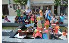 Mladi so svoje mesto razstavili v starem mestnem jedru.