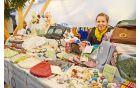 »Mala ustvarjalnica« Martine Mole iz Horjula, ki se je predstavila s stojnico šivanih unikatnih izdelkov in kvačkanih otroških igrač