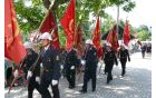 Parada zastavonoš društev Gasilske zveze Bled - Bohinj.