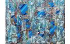 Morska gladina, akril na platnu, 60 x 80 cm, 2014, foto: osebni arhiv Adela Seyouna