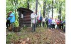 Odprta knjiga - spomenik partizanskemu tisku na Pohorju. Posnetek je nastal ob srečanju leta 2012.