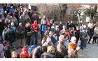 Morščansko vstajo je spremljala množica gledalcev. Foto: Boris Valentinčič