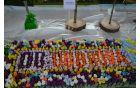 DU Dobrova se je predstavilo z aranžmajem, ki ga je sestavljalo več kot 900 raznobarvnih podleskov.