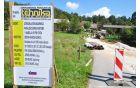 Zaprta cesta zaradi gradnje  kanalizacije na Viru (foto: Gašper Stopar, Matej Šteh)