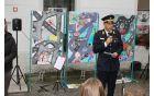 V imenu gasilcev je spregovoril poveljnik Gasilske zveze Kobarid Jernej Bric. Foto: Nataša Hvala Ivančič