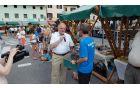 Obiskovalce in tekače je pozdravil kobariški župan Robert Kavčič. Foto: Nataša Hvala Ivančič
