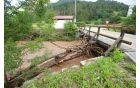 Dolenja vas – še dobro, da deblo še tu ni podrlo mostu!