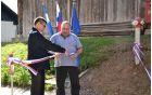 Ob zaključku prve faze obnovitve vodovodnega omrežja v Žažarju sta trak prerezala takratni župan Janko Jazbec in svetnik Jože Mole.