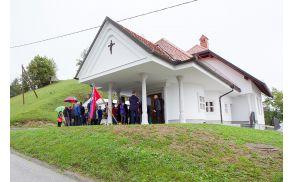 Odprtje večnamenskega objekta in poslovilne vežice na Češnjicah nad Blagovico