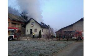 1.1.2013 - Požar stanovanjske hiše v Gorenji vasi