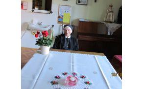 Terezija Štrancar v Domu Marijinih sester v Dobrovi